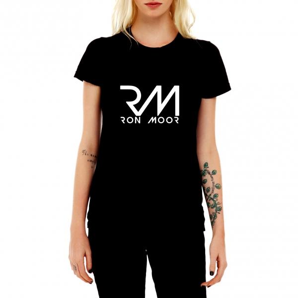 T-Shirt Noir Femme Ron Moor